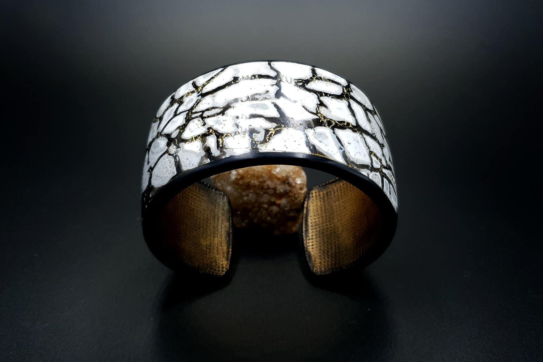 Cracked Marble Bracelet Cuff
