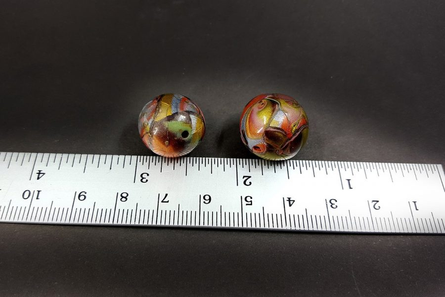 2 pcs Beads from Polymer Clay by Mokume Gane Technique p03