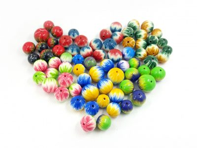 Striped Colorful Beads