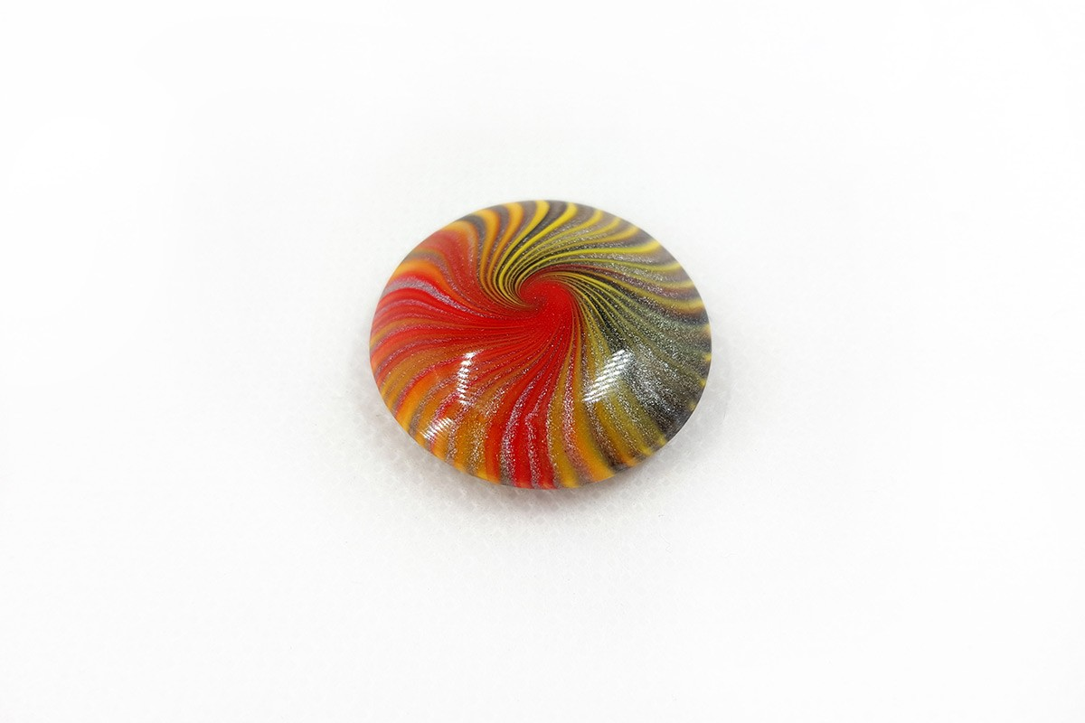 Cabochon Bead from Polymer Clay by Millefiori Technique