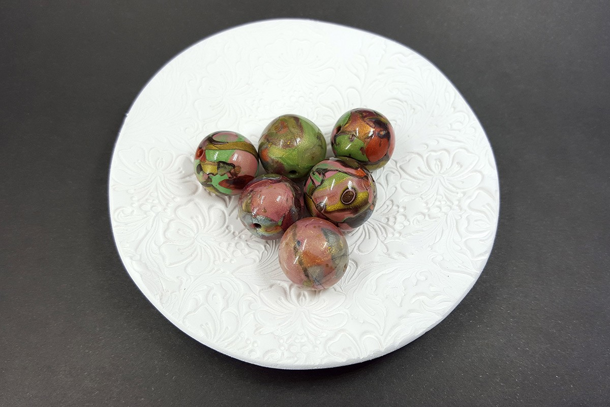 6 pcs Handmade Polymer Clay Beads