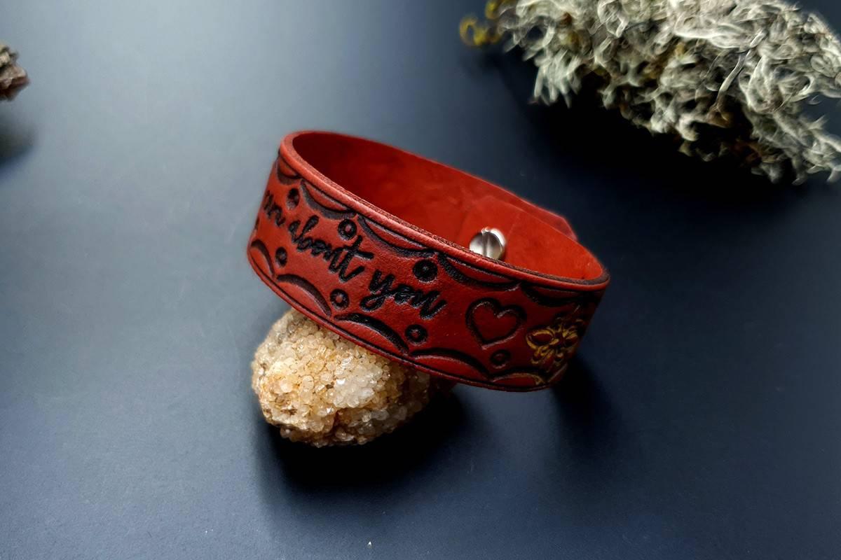 Faux Leather Bracelet #3