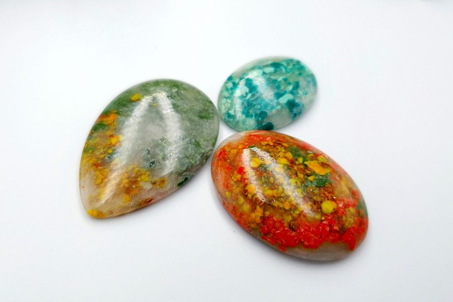 Polymer Clay Moss Agate Set 01 p03