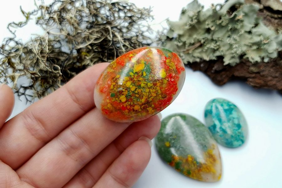 Polymer Clay Moss Agate Set 01 p05