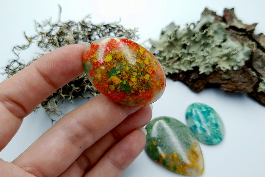 Polymer Clay Moss Agate Set 01 p06