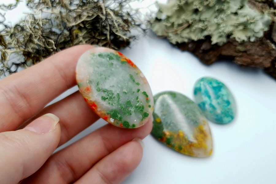 Polymer Clay Moss Agate Set 01 p07