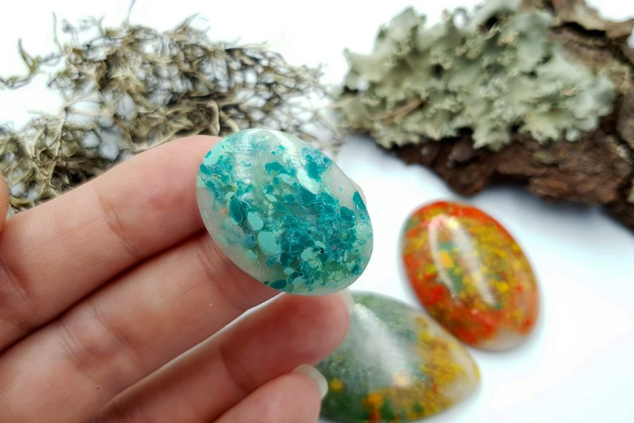 Polymer Clay Moss Agate Set 01 p09