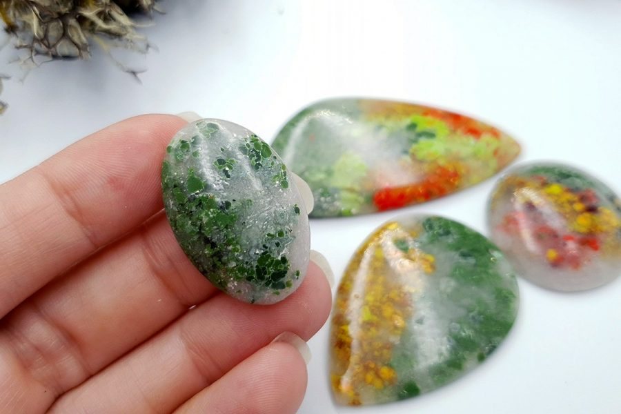 Polymer Clay Moss Agate Set 02 p03