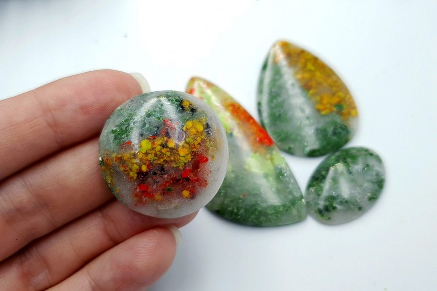 Polymer Clay Moss Agate Set 02 p07