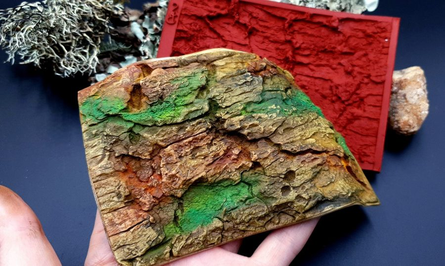 Silicone Texture Old Tree Bark - 135x90mm