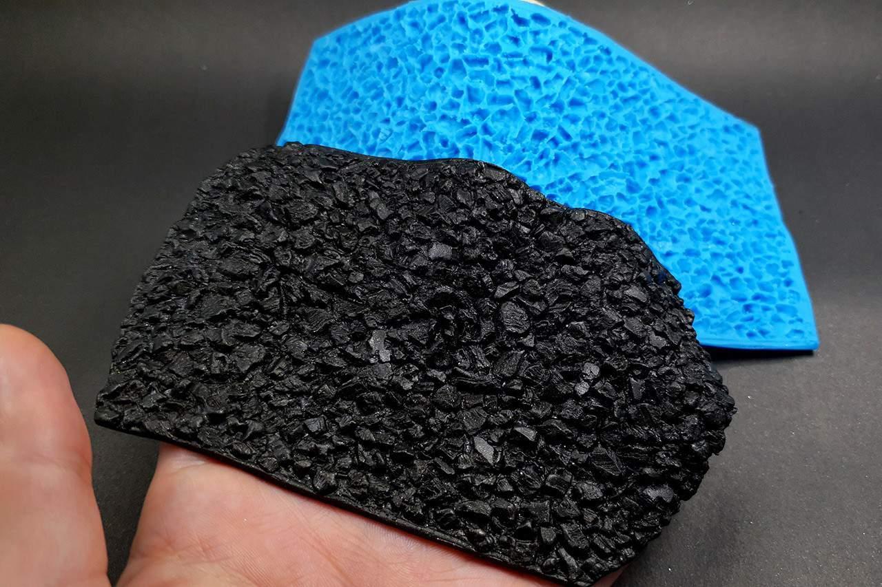 Silicone Texture Druzy Stone – 150x75mm