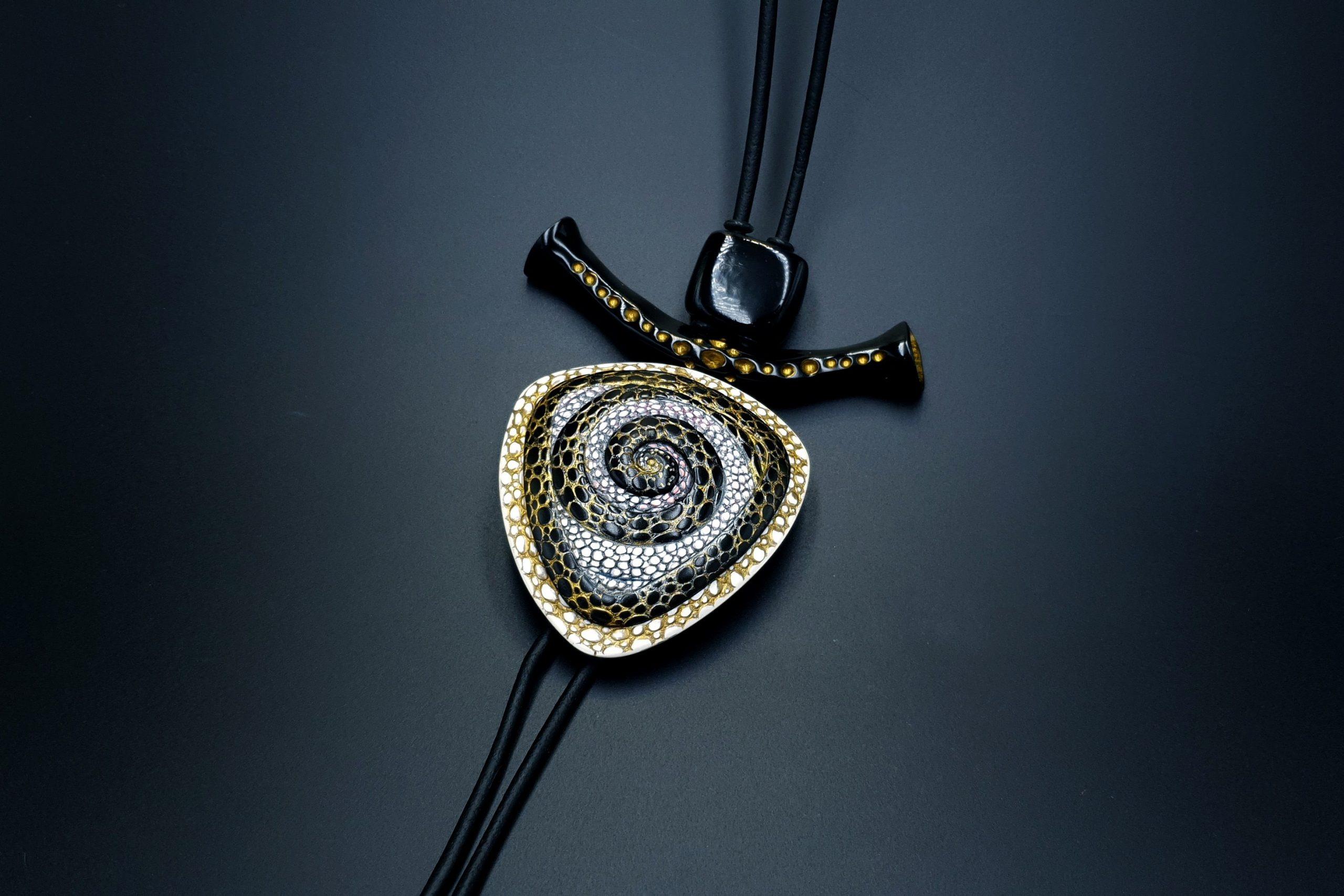 Yin-Yang Swirl Pendant – Triangle Style