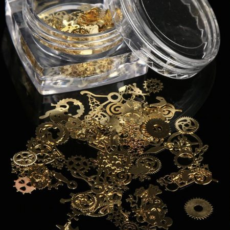 Gold Metal Micro Gear Mixed Steampunk Watch Parts