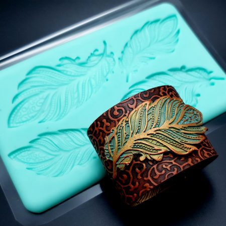 Handmade Silicone Feather Mold #1 (175x105mm)