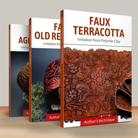 Faux materials: Terracotta, Red Wood & Aged Metal