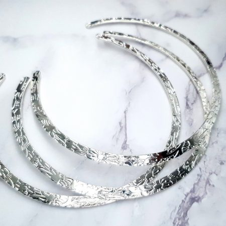3 Pieces Of Silver Metal Necklaces For Pendant