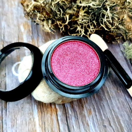 """Solid Pigment Powder """"Juicy Pink"""" with Metal and Chrome Effect"""