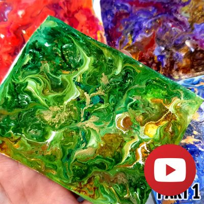 Micro acrylic pouring on raw polymer clay (Part 1)