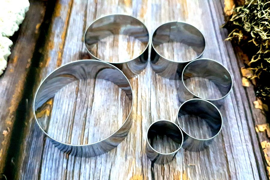 Set of 6 pcs Stainless Steel Round Cutters