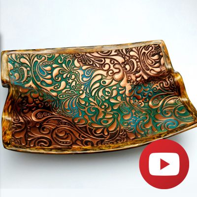 Jewelry/Candy plate with magic veneer