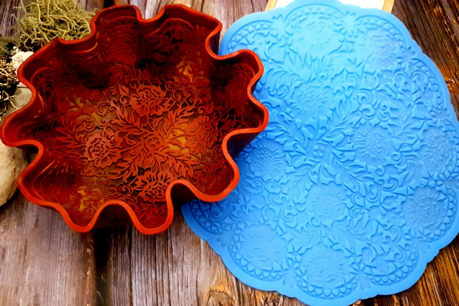 Large Round Lace Silicone Texture (190x190mm)