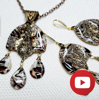 How to make unique jewelry with using faux woodgrain cane
