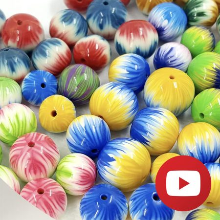 How to make striped cane and beads