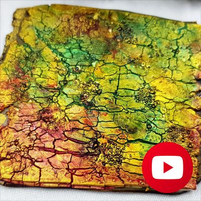 How to make Ammolite style Crackle Surface Technique