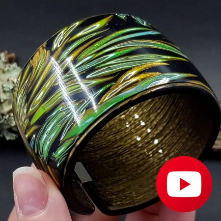How to make polymer clay bracelet cuff in one baking