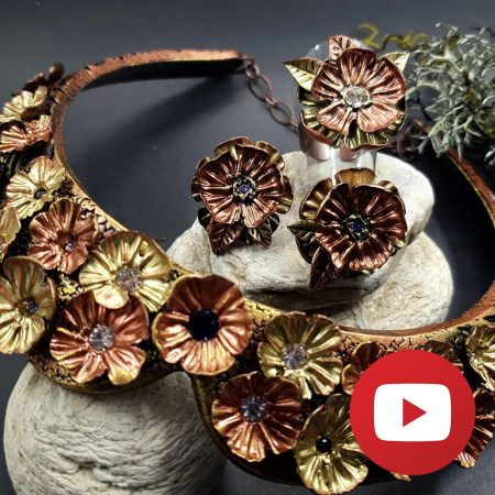 How to make polymer clay faux metal earrings and ring set