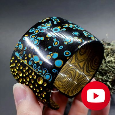 How to make stylish bracelet from polymer clay