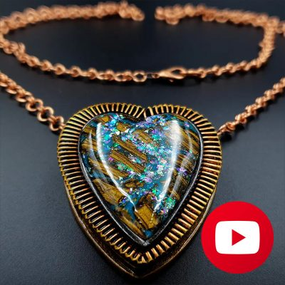 How to make a unique memory pendant - Amazing heart locket