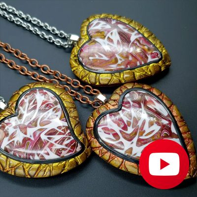 How to make polymer clay open locket pendant for photo