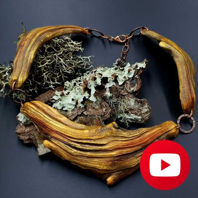 How to make polymer clay driftwood necklace
