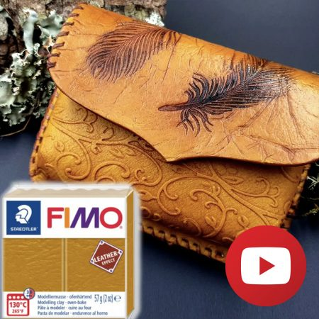 How to make faux leather belt bag – FIMO leather effect
