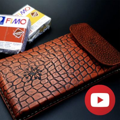 How to make brown phone case completely from polymer clay