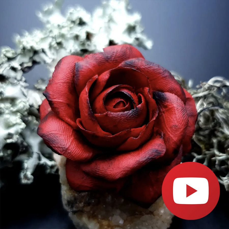 How to make faux leather rose from FIMO leather