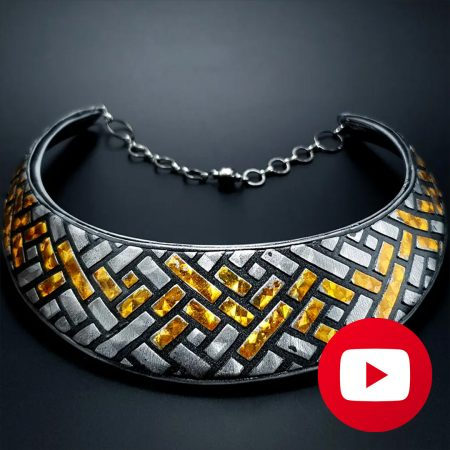 How to make polymer clay stylish faux metal necklace
