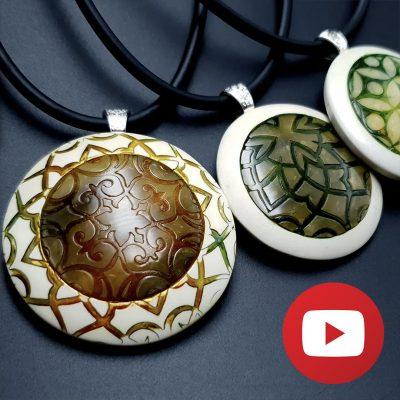 How to make polymer clay round white pendant