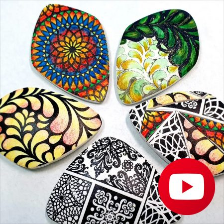 How to make image transfer on raw polymer clay