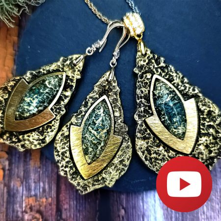 How to make unique jewelry set in simple technique with polymer clay