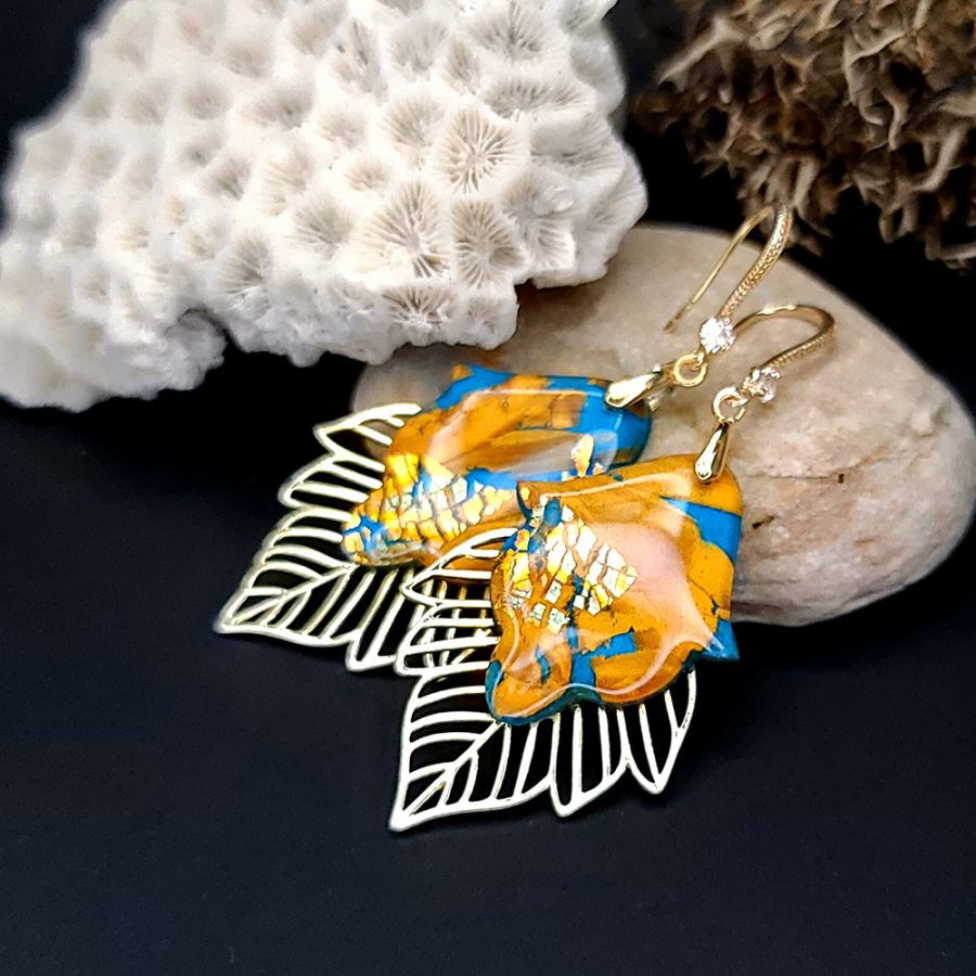 """Romantic Earrings """"Ice and Flame"""""""