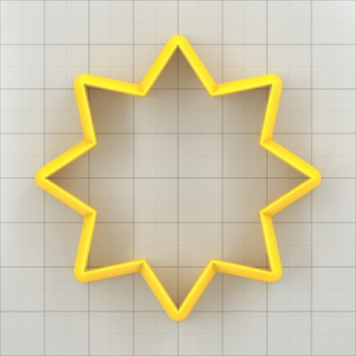 Big set of 11 plastic cutters: 8-POINTED STAR #4